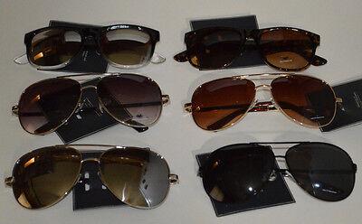 American Eagle Aviator Sunshades Sunglasses Retro Smoke Mirror Mens & (American Eagle Sunglasses)
