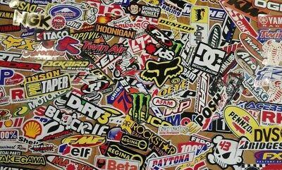 Lot Set of 20 Racing Motorcycle Stickers Motocross Fox Rockstar RedBull Monster
