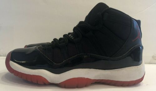 Air Jordan Retro 11 Bred Size 5.5Y GS Playoffs 2019 378038-061 Youth Sneakers