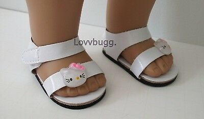 "Lovvbugg Hello Kitty Sandals for 18"" American Girl n Bitty Baby Doll Shoes"