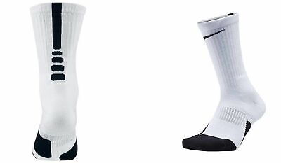 Nike Elite Crew Versatility Basketball Socks Royal Wht SX5593-013 Mens Size 8-12