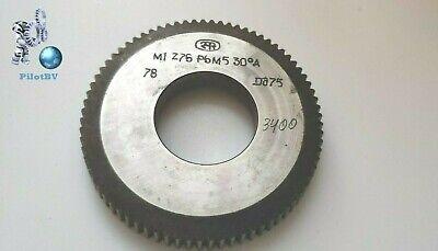 Shaper Cutters Involute Splines M1 Z-76 Pa30 Class A Hss Ussr