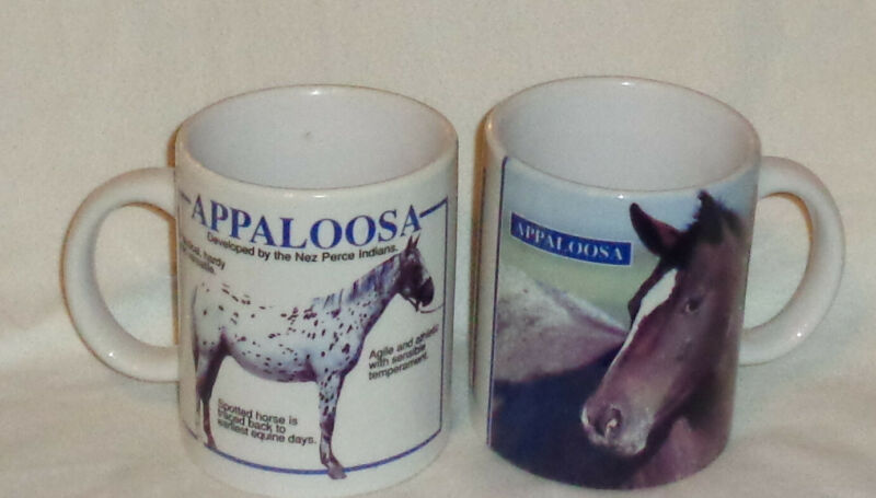(2) Appaloosa Horse Mugs, Unused Condition, Displayed Only, Collectible