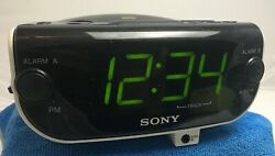 Sony Dream Machine ICF-CD815 AM FM Radio CD Player Dual Alarm Clock w/ AUX Input