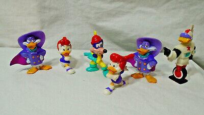 DARKWING DUCK * 1992 Kellogg * Disney-  Set of 6 - Toy Figure Lot - Vintage