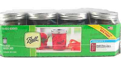 Ball Regular Mouth 12-Pack Half Pint (8 oz) New Wedding Glass Canning Mason Jars
