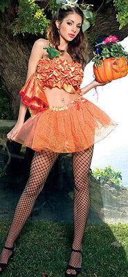 HALLOWEEN PUMPKIN PRINCESS ORANGE GOLD GLITTER FANCY DRESS COSTUME UK 8-10 10-12 (Halloween Costumes Pumpkin Princess)