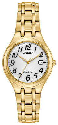 Citizen Eco-Drive Corso Women's Gold-Tone Bracelet 28mm Watch EW2482-53A