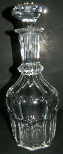 Heavy Large Decanter - Cut Clear Crystal
