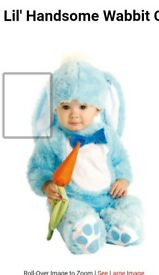 Blue baby rabbit costume 0-6months