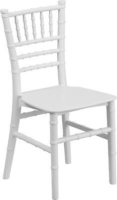 Kids Size White Resin Chiavari Chair