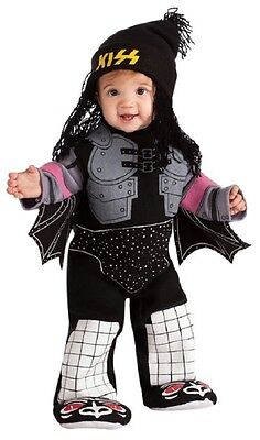 KISS Band Demon Gene Simmons Rock Star Fancy Dress Halloween Baby Child Costume