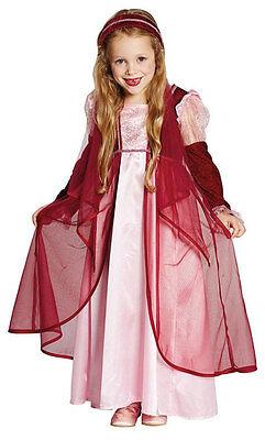 Mittelalterliche Prinzessin Kinderkostüm NEU - Mädchen Karneval Fasching - Mittelalterliche Prinzessin Kind Kostüm