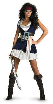 Womens Pirate Of Caribbean Sexy Jack Sparrow Costume