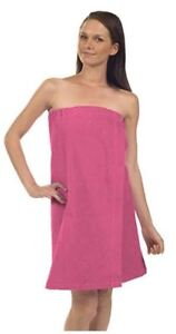 Terrytown Terry Velour Spa Wrap in Hot Pink