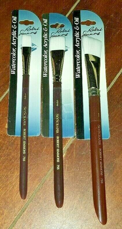 "Robert Simmons /""White Sable/"" Skyscraper Acrylic /& Oil Brushes! Watercolor"