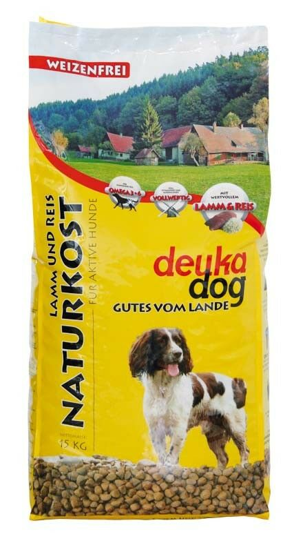 15 kg Deuka dog Naturkost, Lamm & Reis Hundefutter Weizenfrei