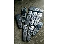 9 X sky HD REMOTES no TV