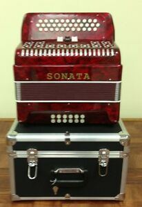 Accordion, Sonata 12 Bass, 34 Buttons, 3 Switch Diatonic Key of GFC