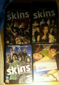 Dvd skins boxset series 1, 2, 4 and 5