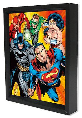 DC-JUSTICE LEAGUE-HEROES 8x10 3D SHADOWBOX DC COMICS BATMAN FLASH WONDER WOMAN!!](Cheap Shadow Boxes)
