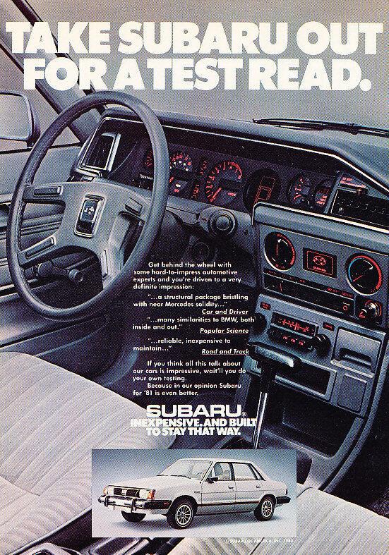 1981 Subaru Sedan - Classic Vintage Advertisement Ad A99