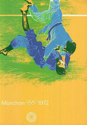 """Olympische Spiele 1972 München Motiv """"TEST-PLAKAT JUDO"""" DIN A0 Otl Aicher SELTEN"""