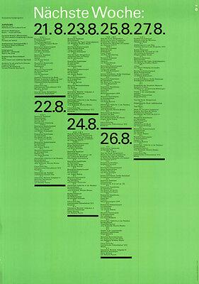 """Olympische Spiele 1972 München """"OLYMPISCHES KUNSTPROGRAMM"""" DIN A0 Otl Aicher"""