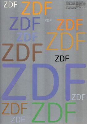 Otl Aicher ZDF-Erscheinungsbild 1975 Plakat DIN A1 SUPERSELTEN Design / Grafik