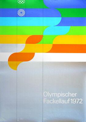 """Olympische Spiele 1972 München Motiv """"Fackellauf"""" DIN A0 Otl Aicher OLYMPIADE"""