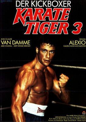 Occasion, Karate Tiger 3 - Der Kickboxer ORIGINAL A1 Kinoplakat Jean-Claude Van Damme d'occasion  Expédié en Belgium