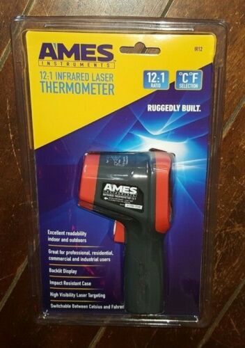 Ames Instruments 12:1 Infrared Laser Thermometer ~ Item #IR12