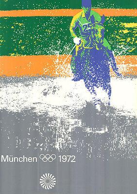 """Olympische Spiele 1972 München Motiv """"TEST-PLAKAT MILITARY"""" DIN A0 Otl Aicher"""