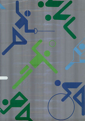 """Olympische Spiele 1972 München """"Endlosplakat Piktogramme"""" A0 Otl Aicher ZUSTAND!"""