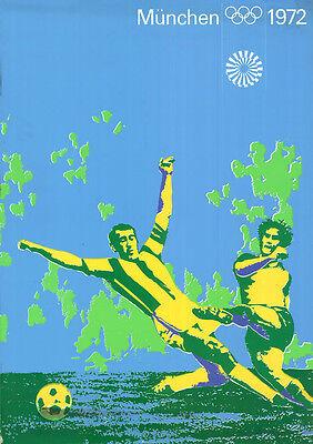 "Olympische Spiele 1972 München Motiv ""TEST-PLAKAT FUSSBALL"" DIN A0 Otl Aicher"