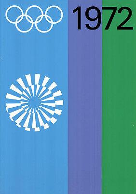 """Olympische Spiele 1972 München Motiv """"RINGE & SPIRALE"""" DIN A0 Otl Aicher OLYMPIA"""