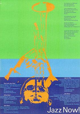 Olympische Spiele 1972 Kultur-Edition DIN A0 Motiv: Jazz Now! Otl Aicher