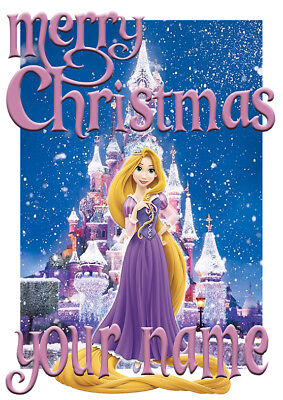Disney Princess Rapunzel Personalised Christmas T-Shirt Ideal Gift/Present](Personalized Disney Princess Gifts)