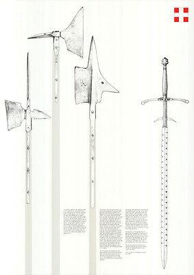 "Otl Aicher - Werbeplakat DIN A1 ""Schweiz Waffen"" Design / Grafik"