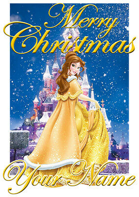 Disney Princess Belle Personalised Christmas T-Shirt Ideal Gift/Present](Personalized Disney Princess Gifts)