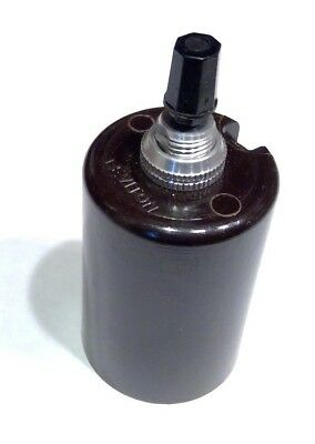 Bottom Turn Knob Socket - LEVITON BOTTOM TURN KNOB 3 WAY EDISON LAMP HOLDER SOCKET NOS