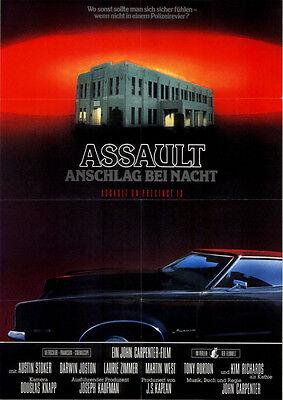 Assault - Anschlag bei Nacht ORIGINAL Kinoplakat DIN A1 John Carpenter