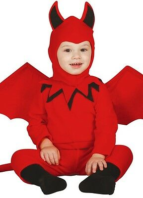 Baby Mädchen Jungen Rot Halloween Devil & Wings Kostüm Kleid Outfit 6-24 Monate