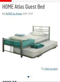 Metal single guest bed