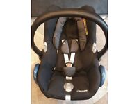 Maxi-Cosi Cabriofix Group 0+ Car Seat, Black Raven