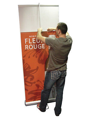 Double-sided 36 Retractable Banner Stand Roll Up Trade Show Display 2 Prints