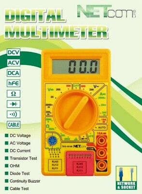Multimeter With Cable Tester