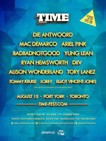 TIME FESTIVAL 2015 - 3 GENERAL ADMISSION TICKETS FOR SALE