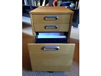 Pair of wooden filing cabinets