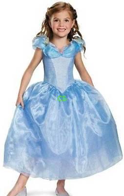 Cinderella Halloween Costume 3t (NWT-Disney Cinderella Princess Dress Tiara Gloves Wand Halloween Costume-)